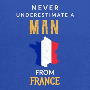 Never underestimate a man from france! - Women's Flowy Tank Top by Bella
