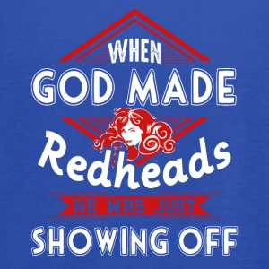 God Made Redheads Shirt - Women's Flowy Tank Top by Bella