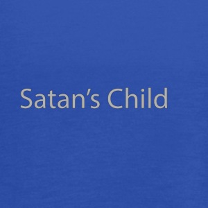 Satan's Child text - Women's Flowy Tank Top by Bella