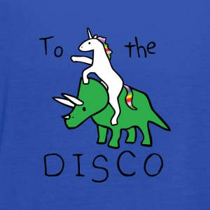 To The Disco Unicorn Riding Triceratops - Women's Flowy Tank Top by Bella
