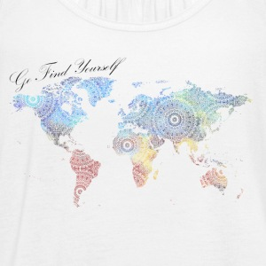 World Map as a Mandala - Go find yourself - Women's Flowy Tank Top by Bella