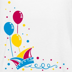 Carnival hat with balloons, streamer and confetti. - Women's Flowy Tank Top by Bella
