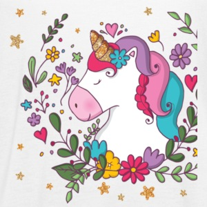 Unicorn With Flowers Gift Shirt Preminium - Women's Flowy Tank Top by Bella