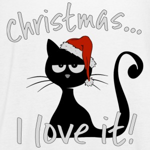 grumpy christmas cat ironic ugly sweater cats gift - Women's Flowy Tank Top by Bella