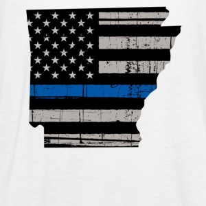 Arkansas Thin Blue Line Police Cop Wife Girlfriend - Women's Flowy Tank Top by Bella