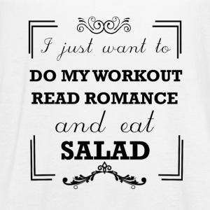 Workout, read romance and eat salad - Women's Flowy Tank Top by Bella