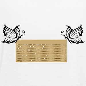 punched card3 - Women's Flowy Tank Top by Bella