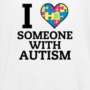I Love Someone With Autism - Women's Flowy Tank Top by Bella