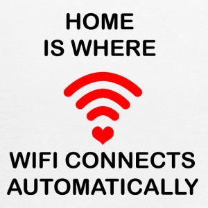 HOME IS WHERE WIFI CONNECTS - Women's Flowy Tank Top by Bella