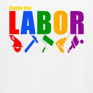 labor happy day shirt, labor day t-shirt - Women's Flowy Tank Top by Bella