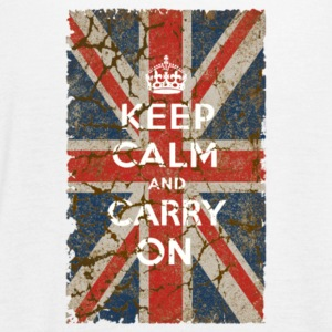 UK Flag and Keep Calm Hybrid - Women's Flowy Tank Top by Bella