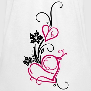 Two hearts with flowers - Women's Flowy Tank Top by Bella