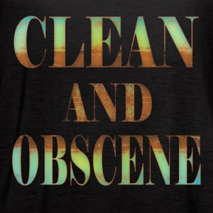 Clean and Obscene words4 - Women's Flowy Tank Top by Bella