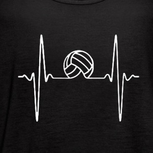 HEARTBEAT VOLLEYBALL SHIRT - Women's Flowy Tank Top by Bella