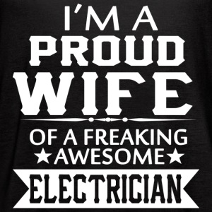 I'M A PROUD ELECTRICIAN'S WIFE - Women's Flowy Tank Top by Bella