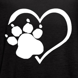 PAW PRINTS ON MY HEART SHIRT - Women's Flowy Tank Top by Bella