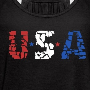 USA TEE SHIRT - Women's Flowy Tank Top by Bella