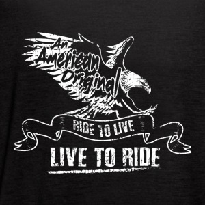 MOTORCYYCLE BIKER AN AMERICAN EAGLE FLY GIFT ROCK - Women's Flowy Tank Top by Bella