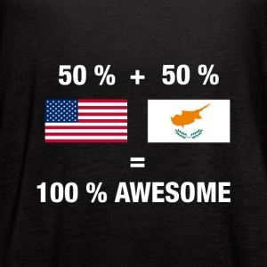 Half Cypriot Half American 100% Awesome Flag Cypru - Women's Flowy Tank Top by Bella