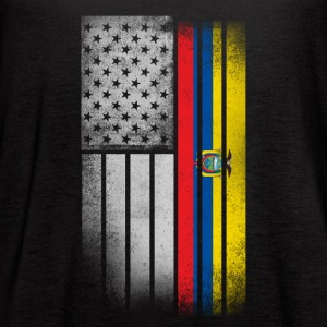 Ecuadorean American Flag - Women's Flowy Tank Top by Bella