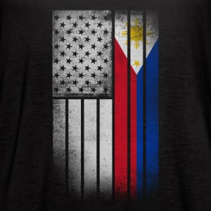 Filipino American Flag - Half Filipino Half Americ - Women's Flowy Tank Top by Bella