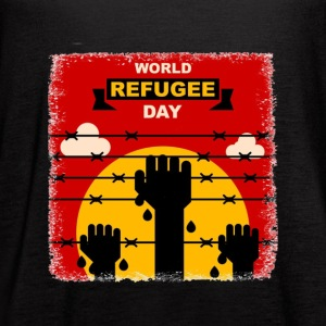 World Refugee Day Shirt - Women's Flowy Tank Top by Bella