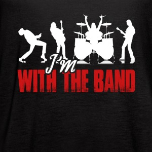 I'M WITH THE BAND SHIRT - Women's Flowy Tank Top by Bella