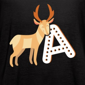 Antelope Tee Shirt - Women's Flowy Tank Top by Bella