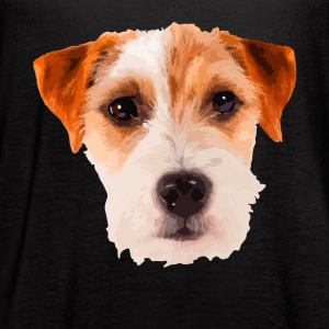 Jack Russell Terrier Face Shirt - Women's Flowy Tank Top by Bella