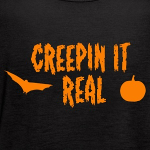 Creepin It Real Halloween Pun! - Women's Flowy Tank Top by Bella