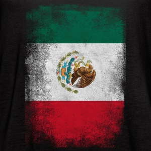 Mexico Flag Proud Mexican Vintage Distressed - Women's Flowy Tank Top by Bella
