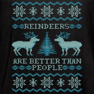 Reindeers Are Better Than People - Women's Flowy Tank Top by Bella