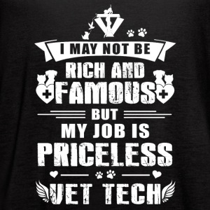 My job is Priceless Vet Tech - Women's Flowy Tank Top by Bella