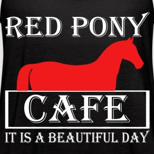 Red Pony Cafe Shirt - Women's Flowy Tank Top by Bella