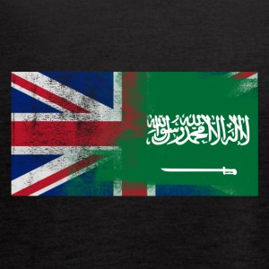 British Saudi Half Saudi Arabia Half UK Flag - Women's Flowy Tank Top by Bella