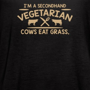 Im A Second Hand Vegetarian Cows - Women's Flowy Tank Top by Bella