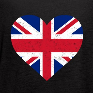 UK Flag Shirt Heart - Brittish Shirt - Women's Flowy Tank Top by Bella