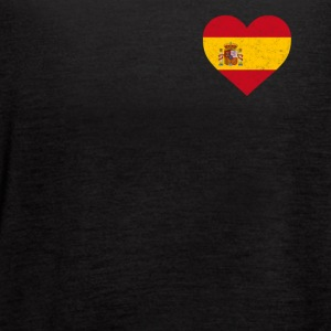Spain Flag Shirt Heart - Spanish Shirt - Women's Flowy Tank Top by Bella