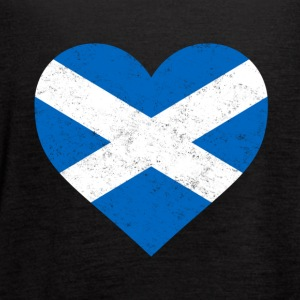 Scotland Flag Shirt Heart - Scottish Shirt - Women's Flowy Tank Top by Bella