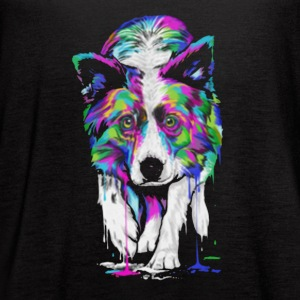Border Collie Shirt - Women's Flowy Tank Top by Bella