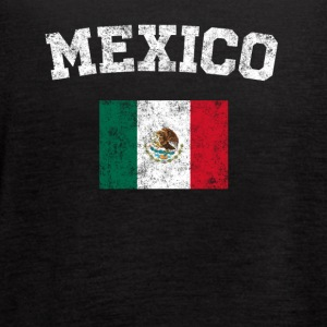Mexican Flag Shirt - Vintage Mexico T-Shirt - Women's Flowy Tank Top by Bella