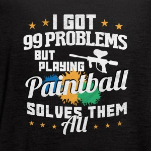 I got 99 problems Paintball solves them all - Women's Flowy Tank Top by Bella