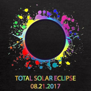 Colorful Total Solar Eclipse August 21st 2017 - Women's Flowy Tank Top by Bella