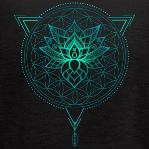 Lotus Flower of Life Mandala in Geometric - Women's Flowy Tank Top by Bella