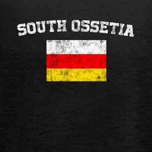 South Ossetia Flag Shirt - Vintage South Ossetia T - Women's Flowy Tank Top by Bella
