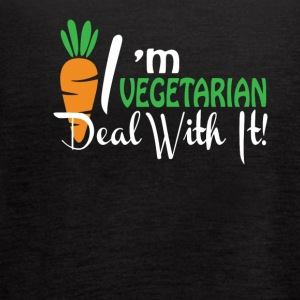 Im A Vegetarian Deal With It Vegetarian - Women's Flowy Tank Top by Bella