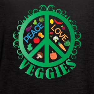 Peace Love Veggies - Women's Flowy Tank Top by Bella