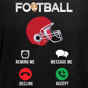 Football Remind me Message me Decline Accept - Women's Flowy Tank Top by Bella