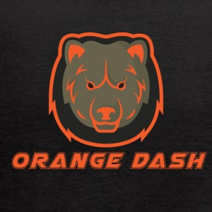 Logo Orange Dash - Women's Flowy Tank Top by Bella