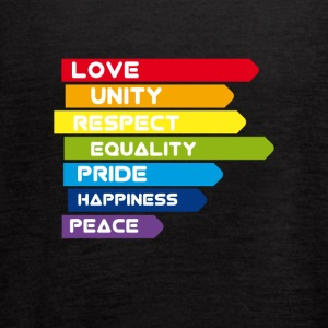 gay Pride lbgt csd unity equality Love lesbian rai - Women's Flowy Tank Top by Bella